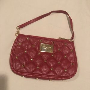 Red Fancy Michael Kors Wristlet with Gold Studs 🌹